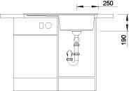Blanco ZENAR 45 S Silgranit tartufo dřez vpravo s excentrem a skleněnou krájecí deskou