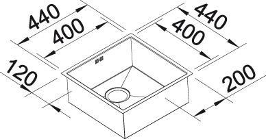 Blanco ZEROX 400 U InFino Nerez hedvábný lesk bez táhla C-Overflow