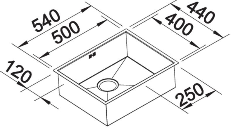 Blanco ZEROX 500 IF InFino nerez Durinox bez táhla