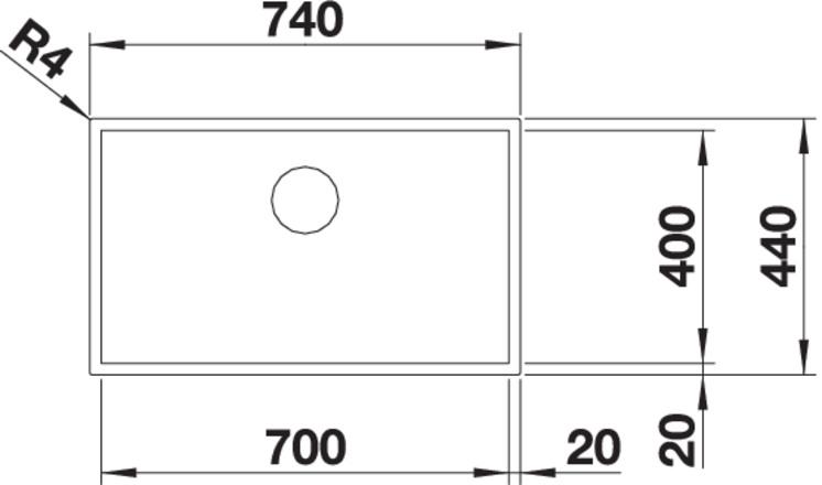 Blanco ZEROX 700 IF InFino nerez Durinox bez táhla