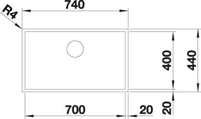 Blanco ZEROX 700 U InFino DURINOX bez táhla  C-Overflow