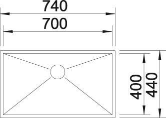 Blanco ZEROX 700 IF InFino Nerez hedvábný lesk bez táhla