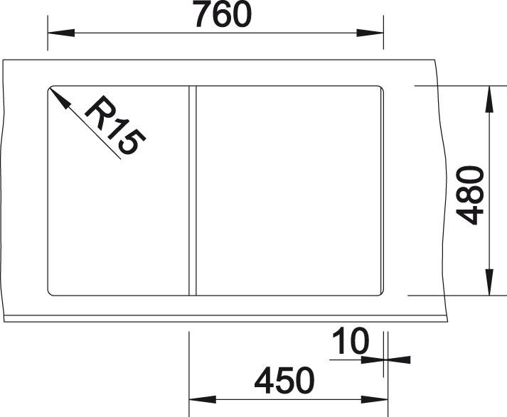 Blanco ZIA 45 S Silgranit antracit oboustranné provedení